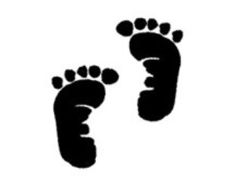 Twin Baby Feet Clipart