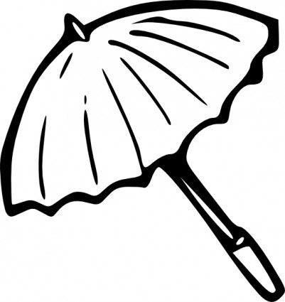 Umbrella Outline Clip Art Free Vector In Open Office Drawing