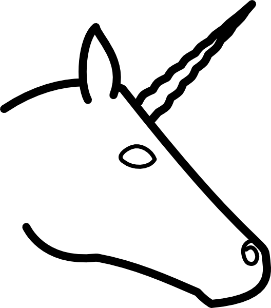 Unicorn Head Profile Clip Art At Vector Clip Art