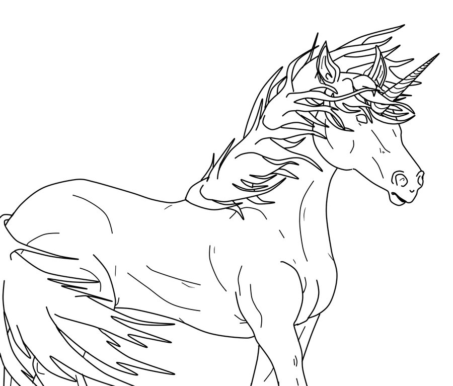 Unicorn Outline Bleh No Swirl On Deviantart