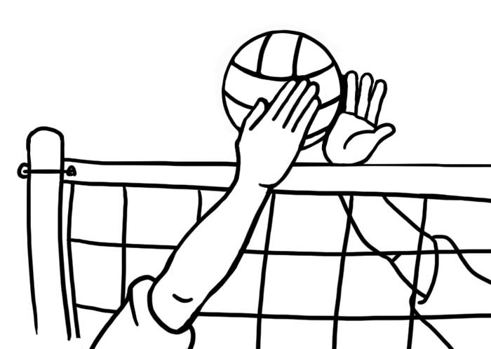 Volleyball Clipart Awesome And Free Volleyball Court Central