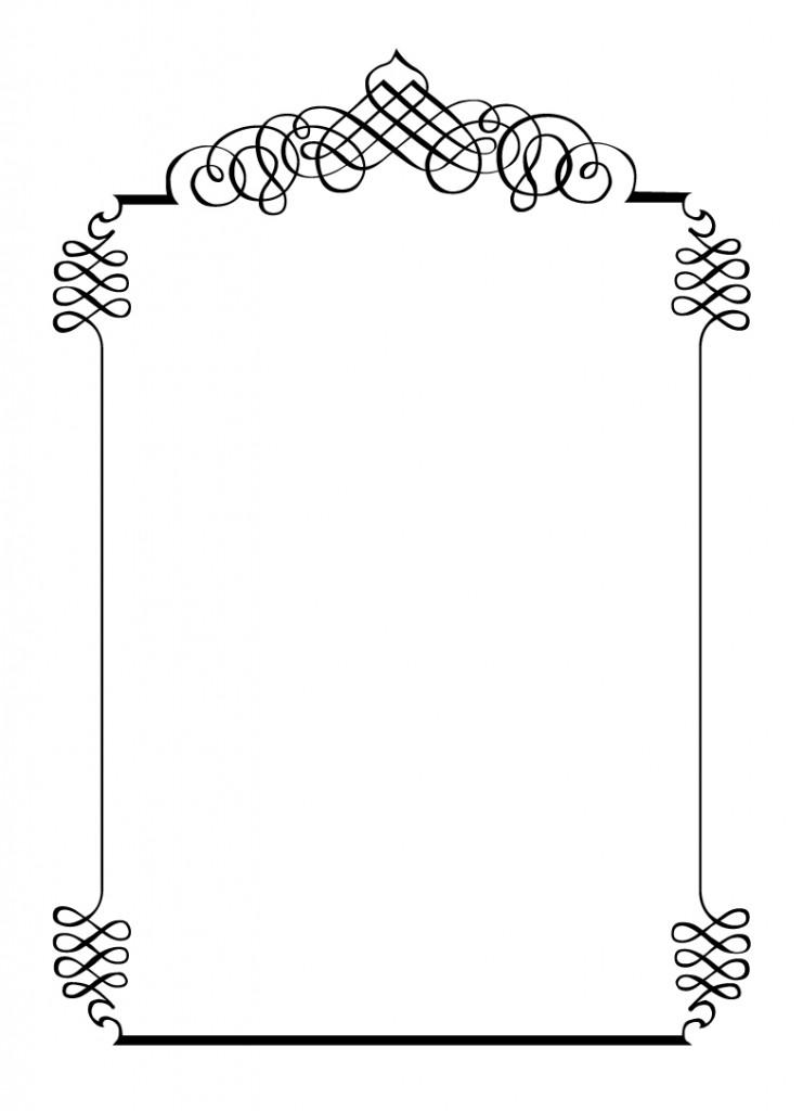 Wedding Invitation Borders Wedding Dress And Style