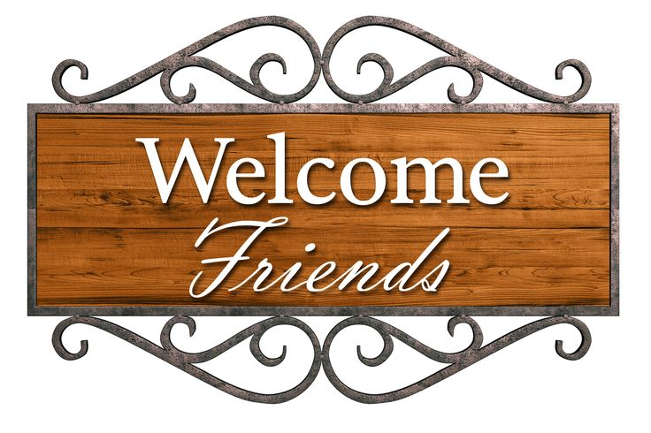 Welcome Friends Wooden Sign Fumc Clip Art Pinterest Public