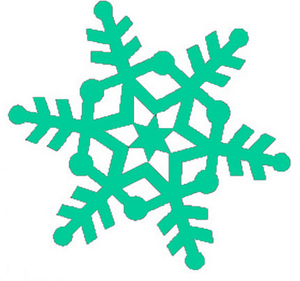 White Snowflake Clipart Transparent Background