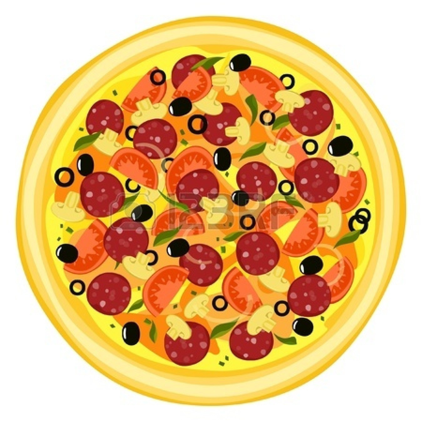 Whole Pepperoni Pizza Clipart Pizza Set Royalty Free Cliparts