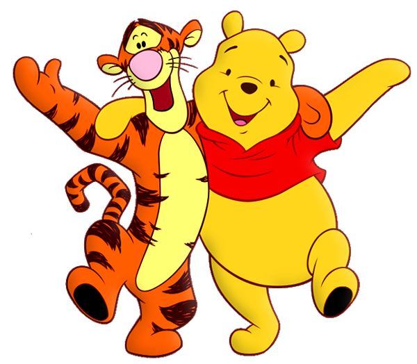 Winnie The Pooh And Tiger Cartoon Png Free Clipart Clip Art