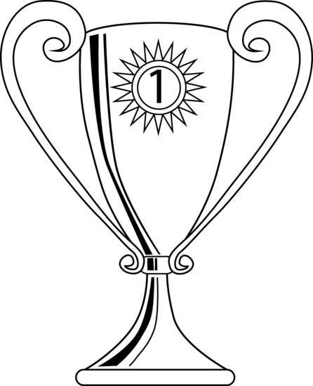 Winning Trophy Coloring Page Free Clip Art