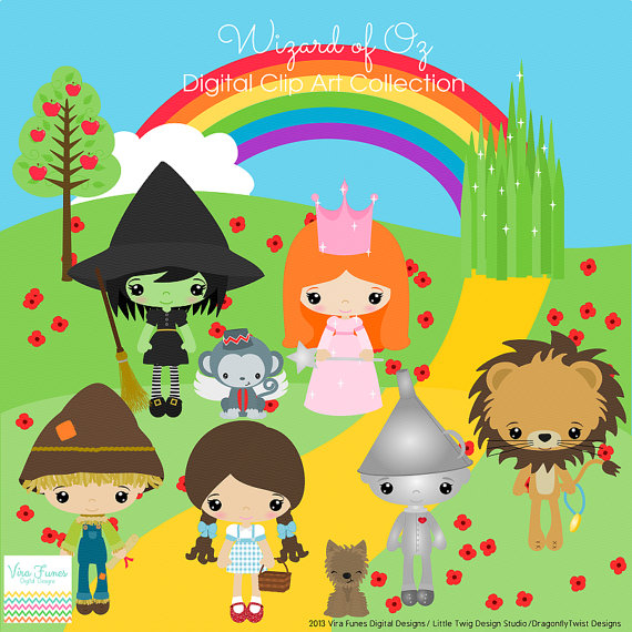 Wizard Of Oz Digital Clipart Clip Artjandgdesignstudio On Etsy