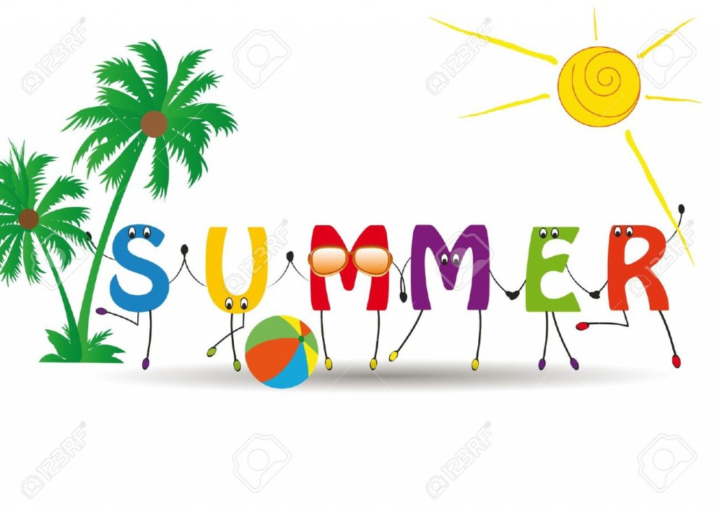 Word Summer With Colorful And Funny Letters Royalty Free Cliparts