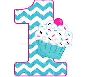 1st Birthday Cupcake Boy Super Shape Foil Balloon Clipart Free