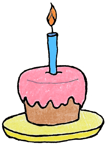 1st Birthday Cupcake Clip Art Free Clipart Images