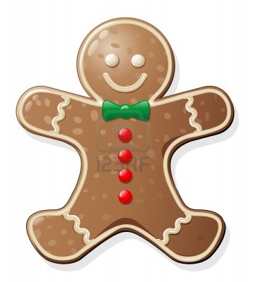 2 Clipart Gingerbread Woman Cookie 1 Royalty Free Vector