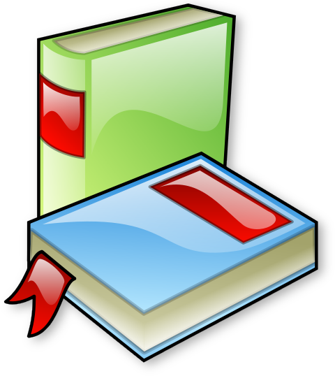 2 Large Glossy Books Png