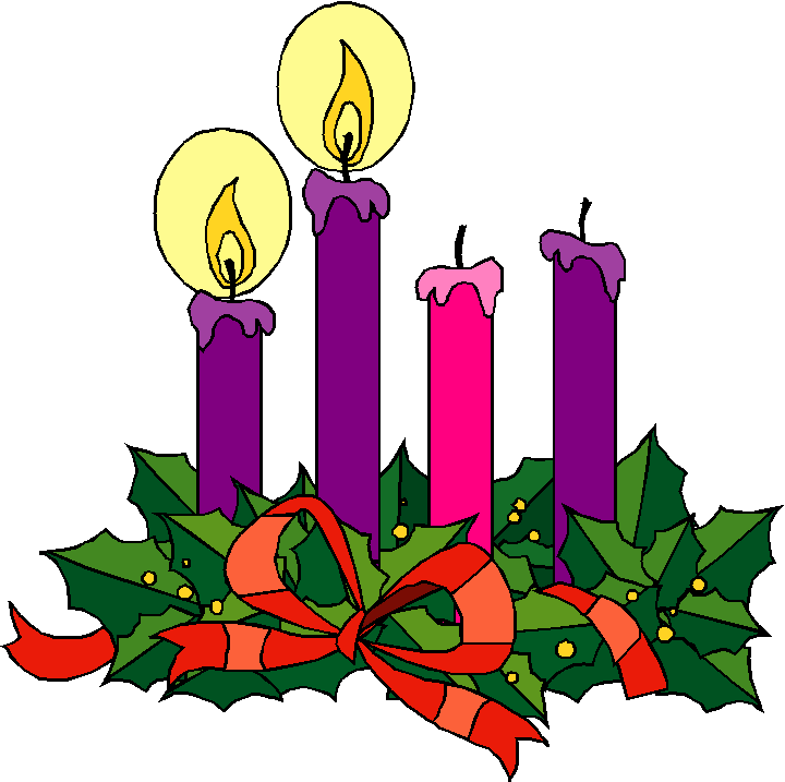2nd Sunday Advent Candles Clipart