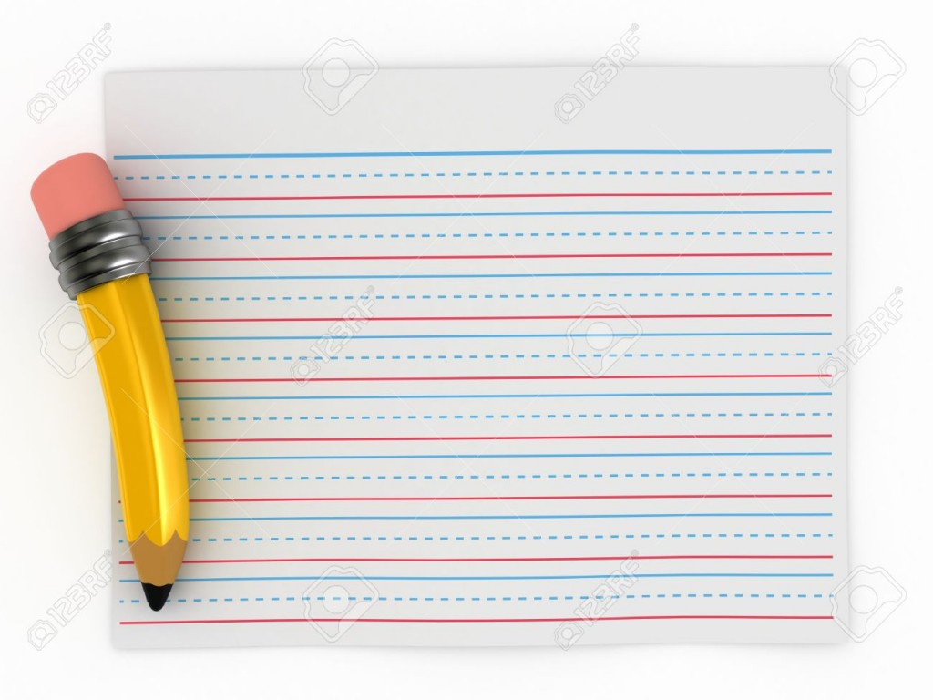 3d Render Of Writing Paper Stock Photo Picture And Royalty Free