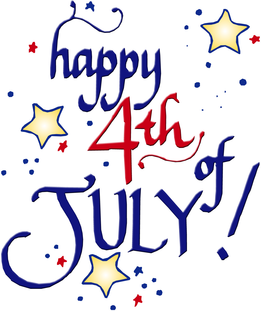 Clipart Free 4th Of July