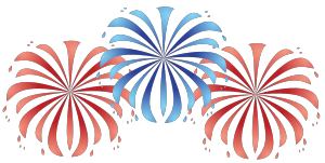 4th Of July Fireworks Border Free Clipart Images