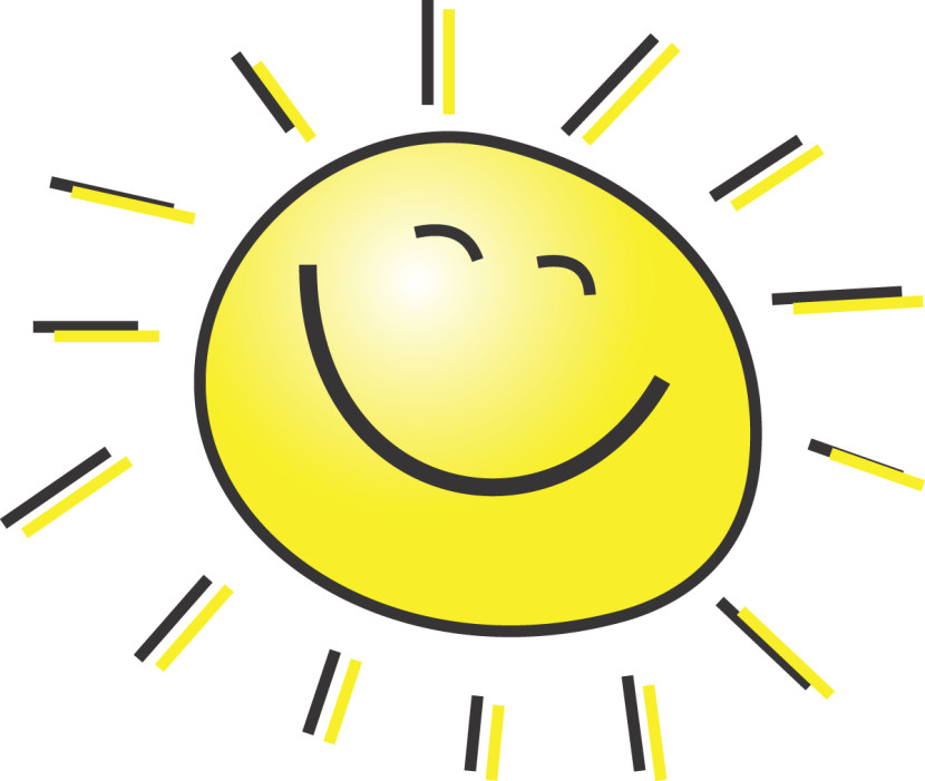 5 Free Summer Clipart Illustration Of A Happy Smiling Sun