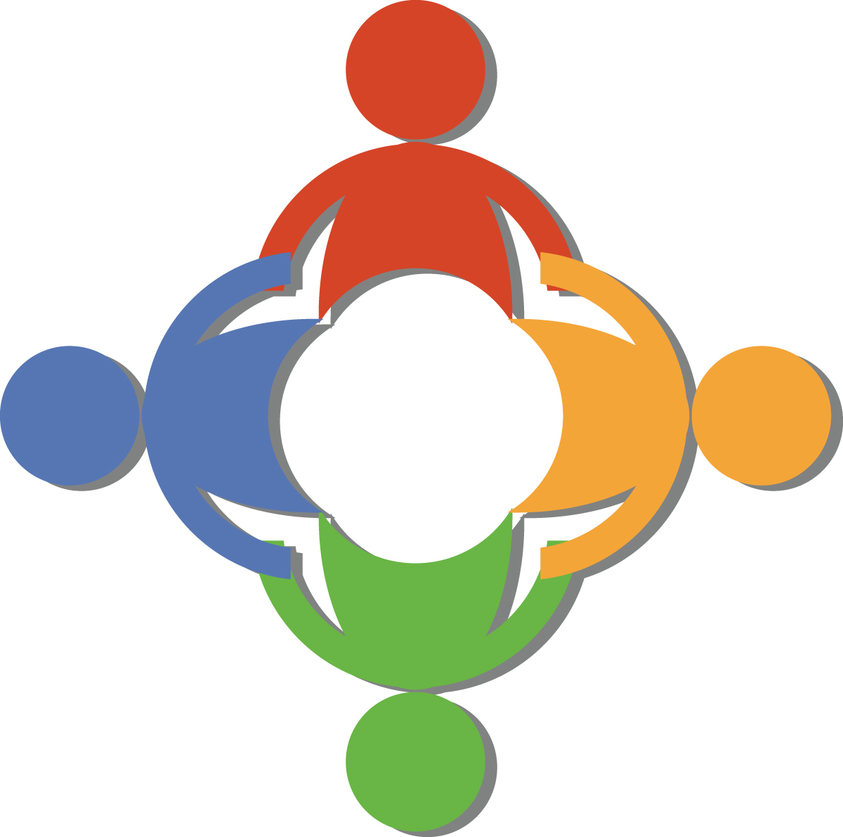 7 Free Teamwork Clip Art Of A Circle Of Diverse People Holding Hands