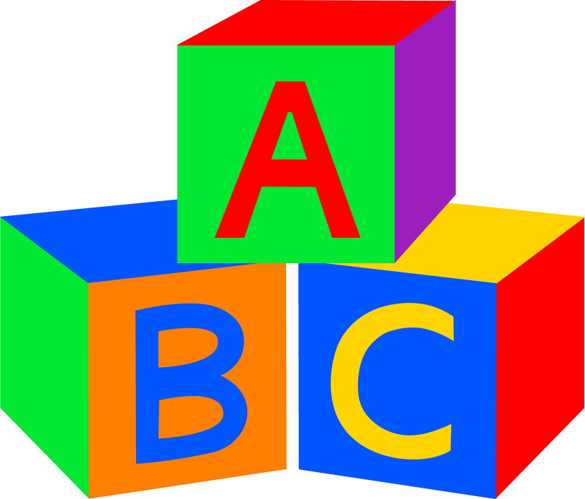 Abc Blocks Clipart Black And White Free Clipart