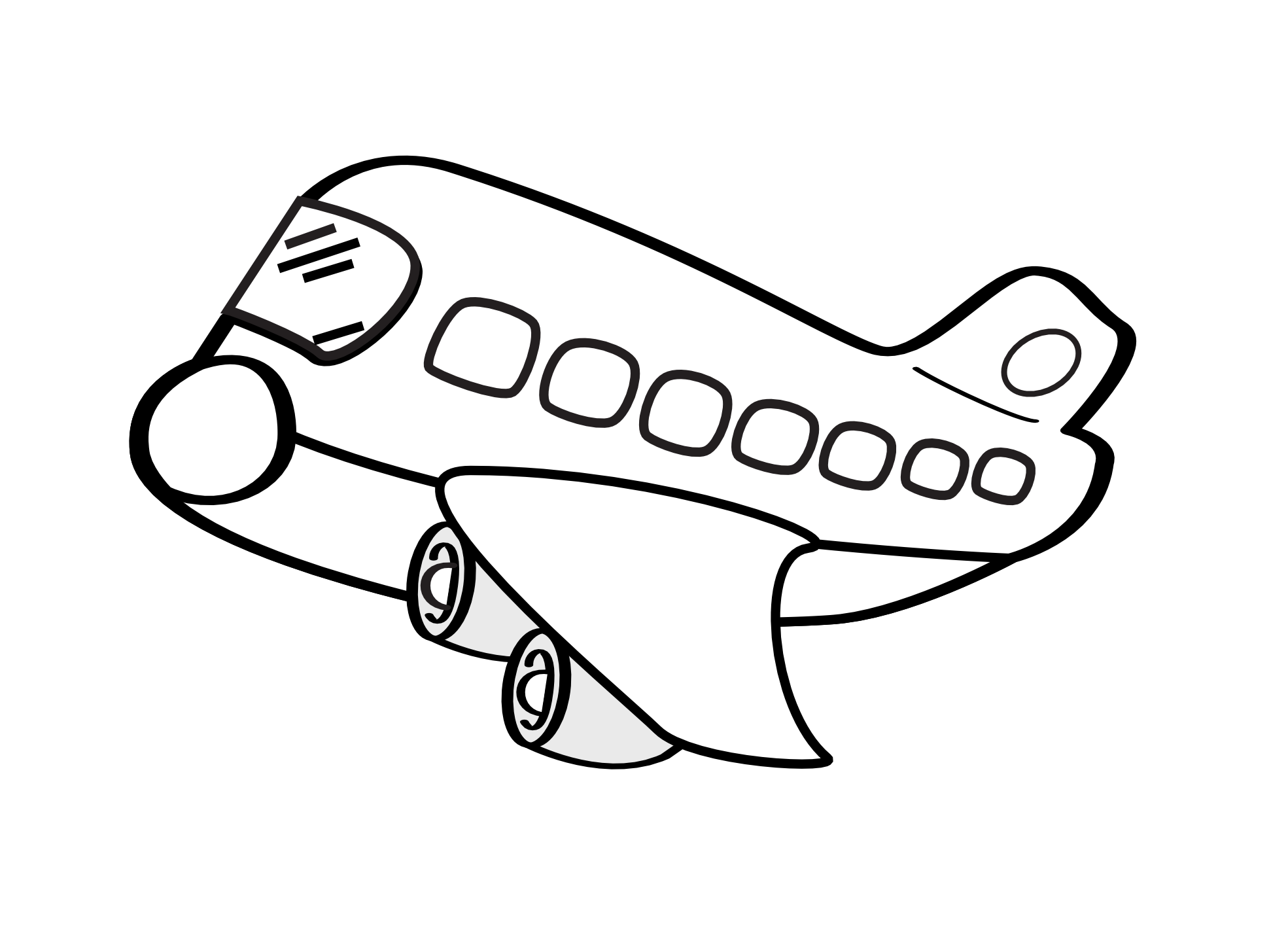 Best Airplane Clipart Black And White 20191 Clipartion Com
