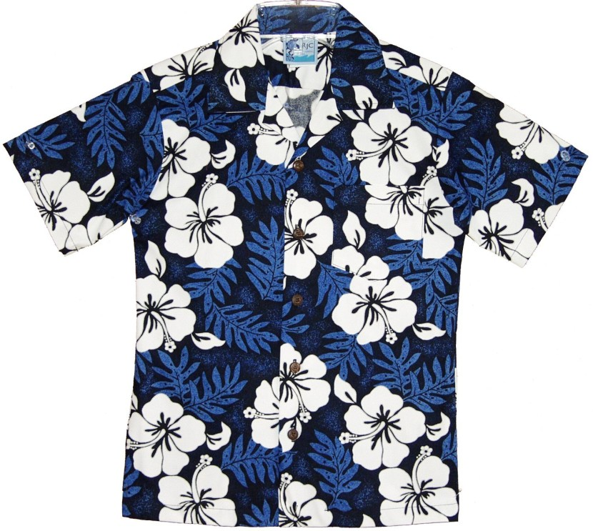 Amazon Com Rjc Boys Size 2 To White Hibiscus Fern Shirt