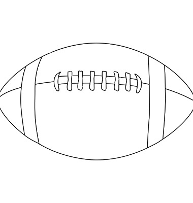 American Football Ball Outline Vectorviktorijareut Image