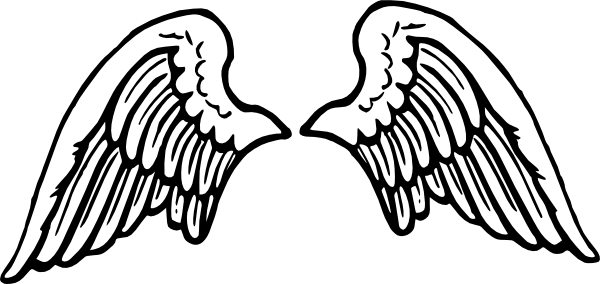 Angel Wings With Halo Clip Art Free Clipart Images