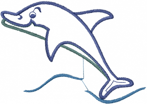 Animals Atg Freedesigns Embroidery Design Dolphin Outline From