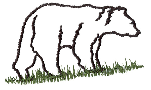Animals Embroidery Design Bear Outline From Grand Slam Designs