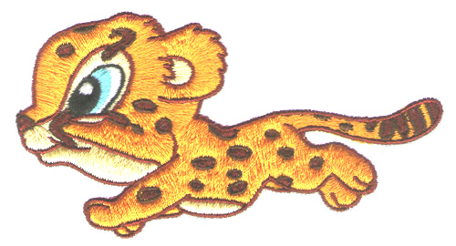 Anime Baby Cheetah These Cheetahs Embroider Clipart Free Clip