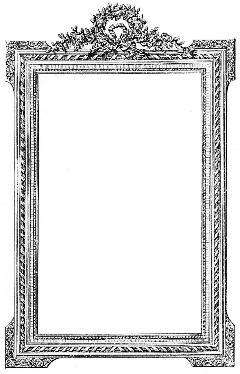Antique French Picture Frame Clip Art Image The Graphics Fairy