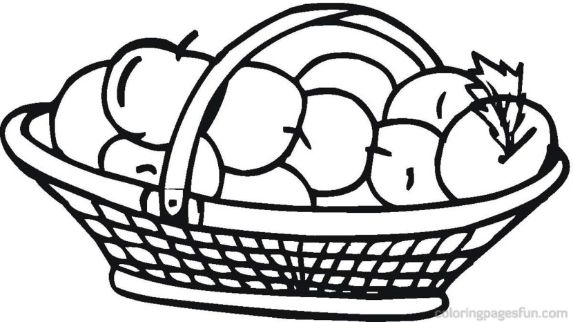 Apple Basket Clipart Clipartion