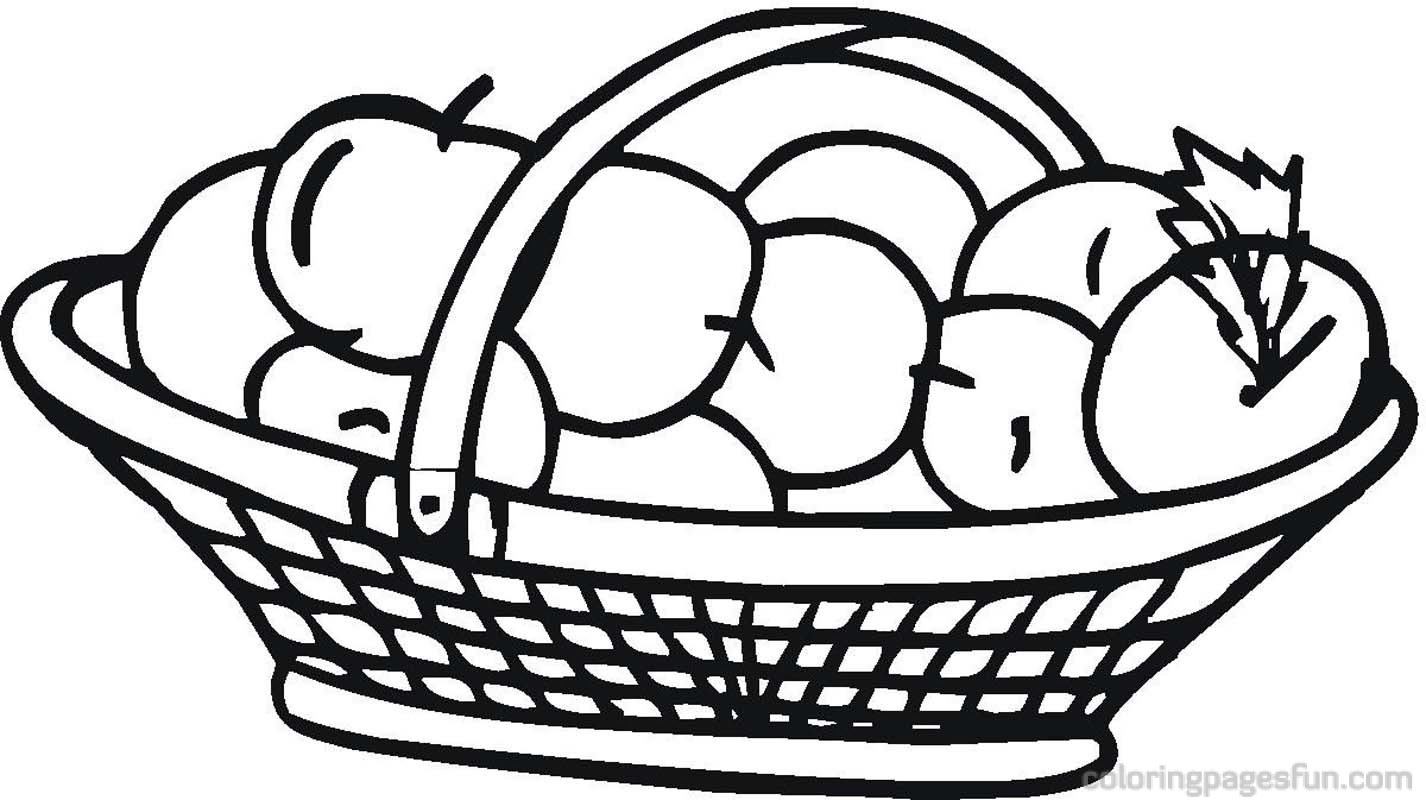 apple-basket-clipart Coloring Pages Basket Free Clipart Images