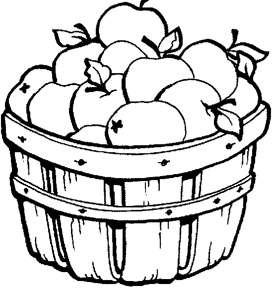 apple-basket-clipart Free Coloring Pages