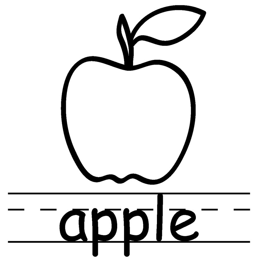 Apple Black And White Clipart Free Clipart Images