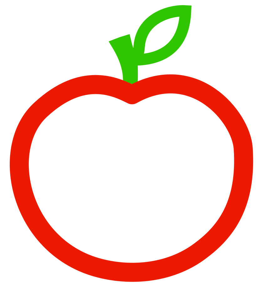 Apple Black And White Picture Of An With A Clipart Free Clip Art