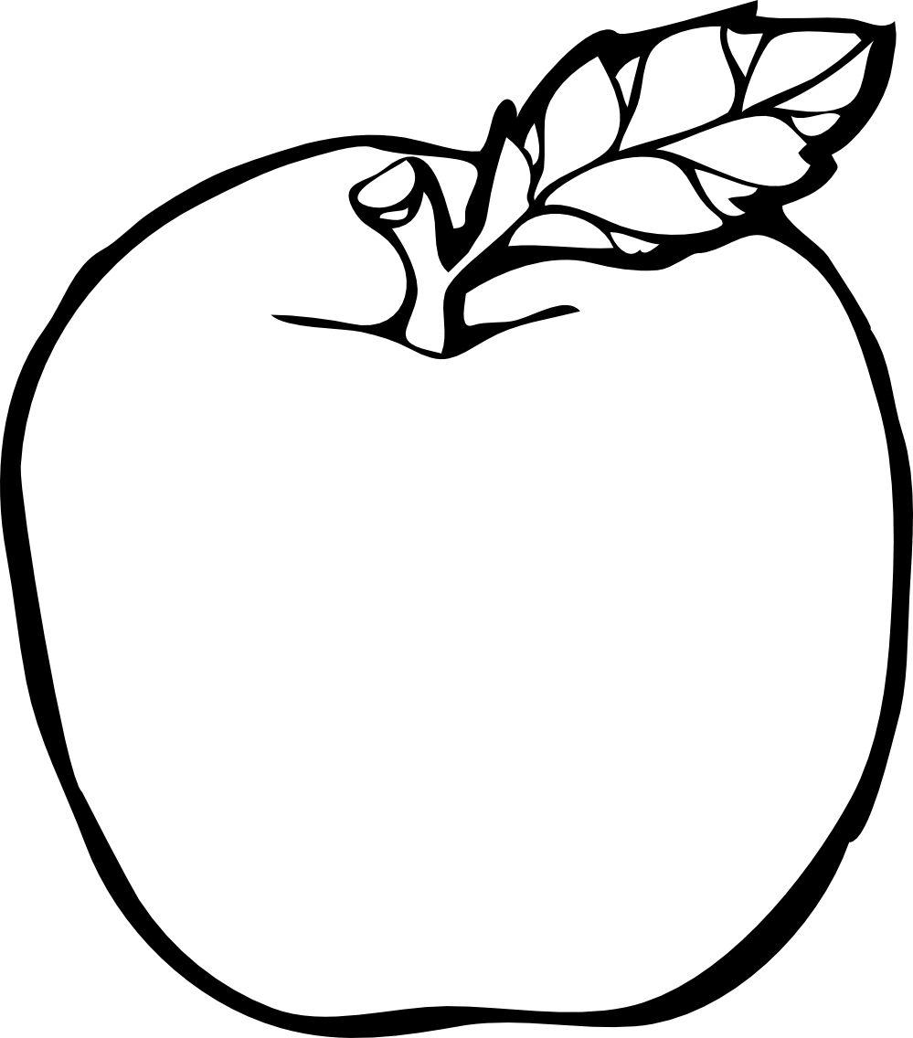 Apple Clip Art Black And White