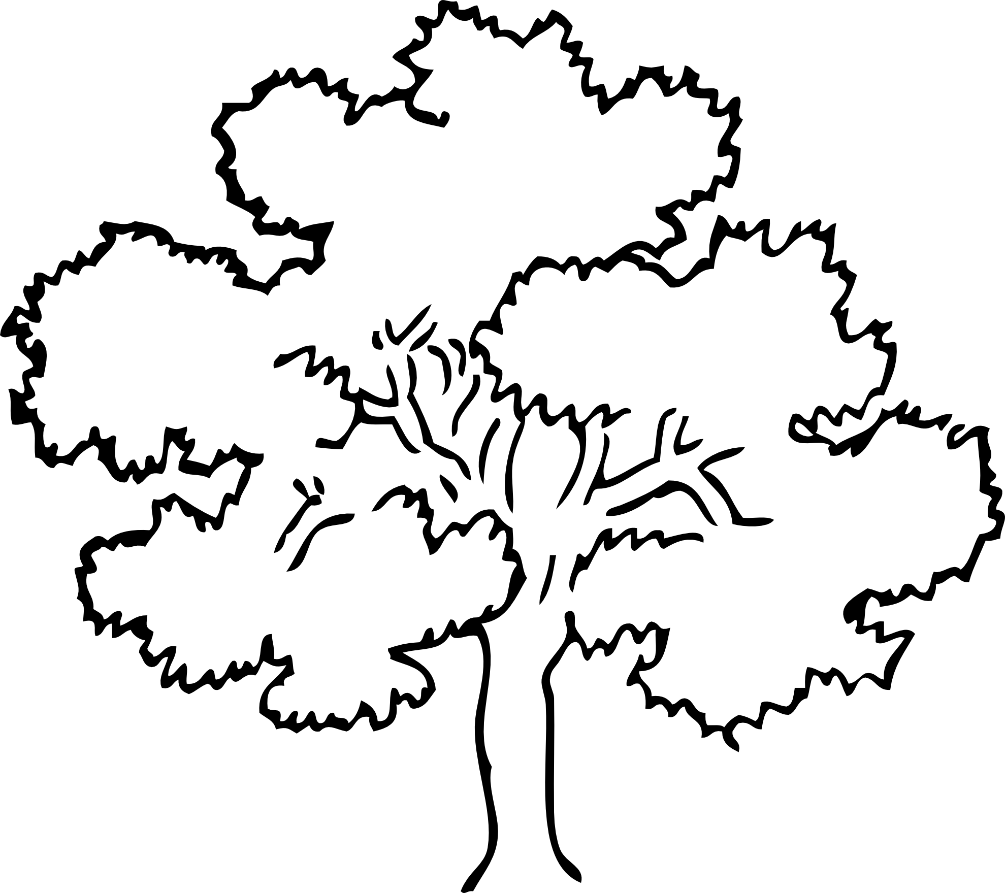 Apple tree clipart black and white free clipart