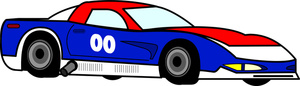 Auto Racing Clipart Image Race Car On A Race Track