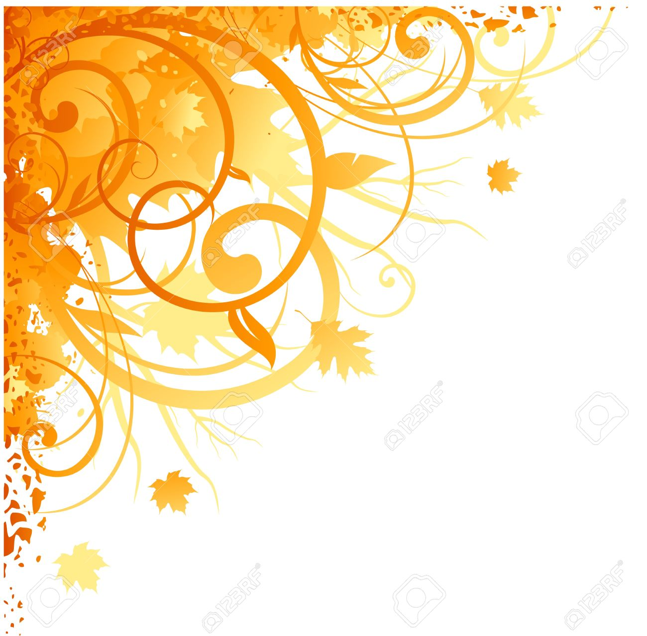 Autumn Corner Design Royalty Free Cliparts Vectors And Stock