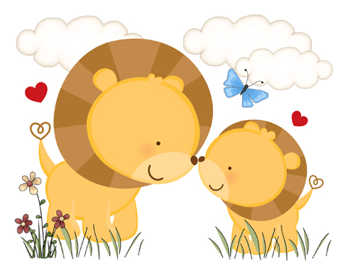 Baby Girls Jungle Clip Art