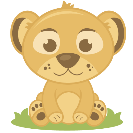 Baby Lion Cutting S Elephant Cut Clipart Free Clip Art Images