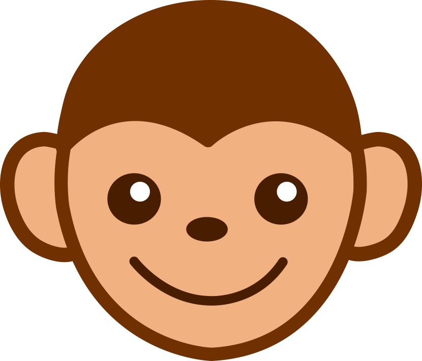 Best monkey face clipart 12623 - Clipart visage ...