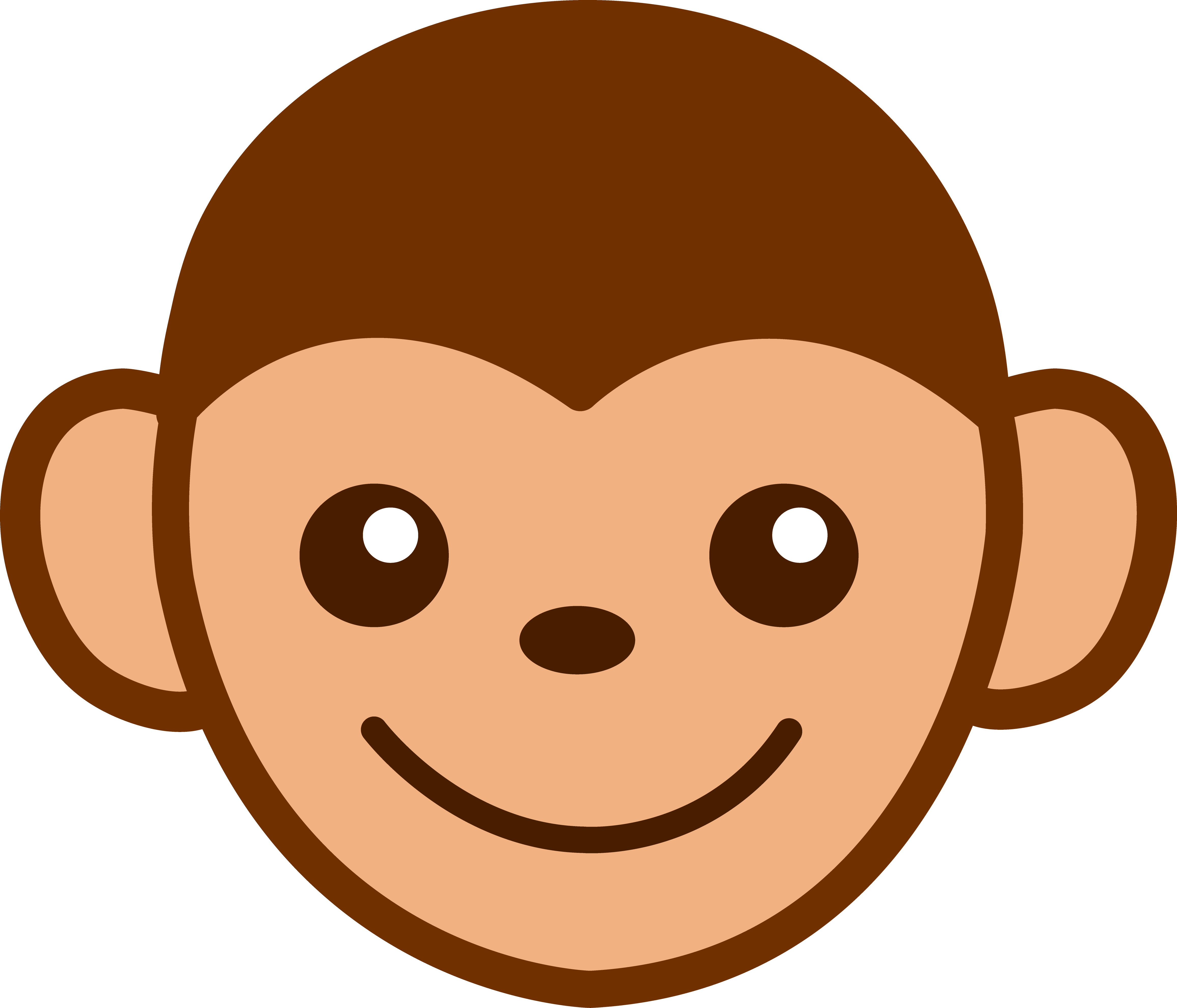 Baby Monkey Face Clip Art Free Clipart Images