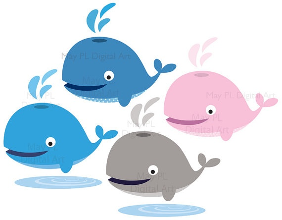 Baby Shower Whale Clip Art Stock Illustration Clipart
