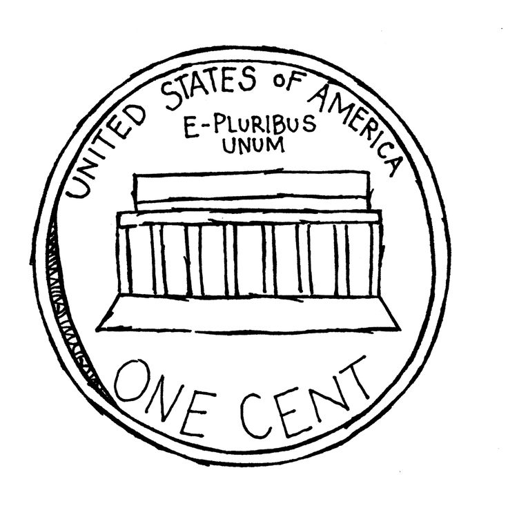 Back Of Dime Clipart Black And White Funny Pics