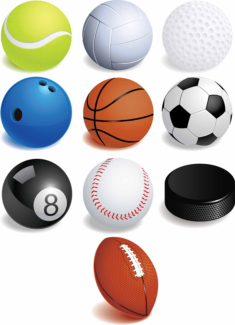 Balls For Sports Sports Balls Clipart