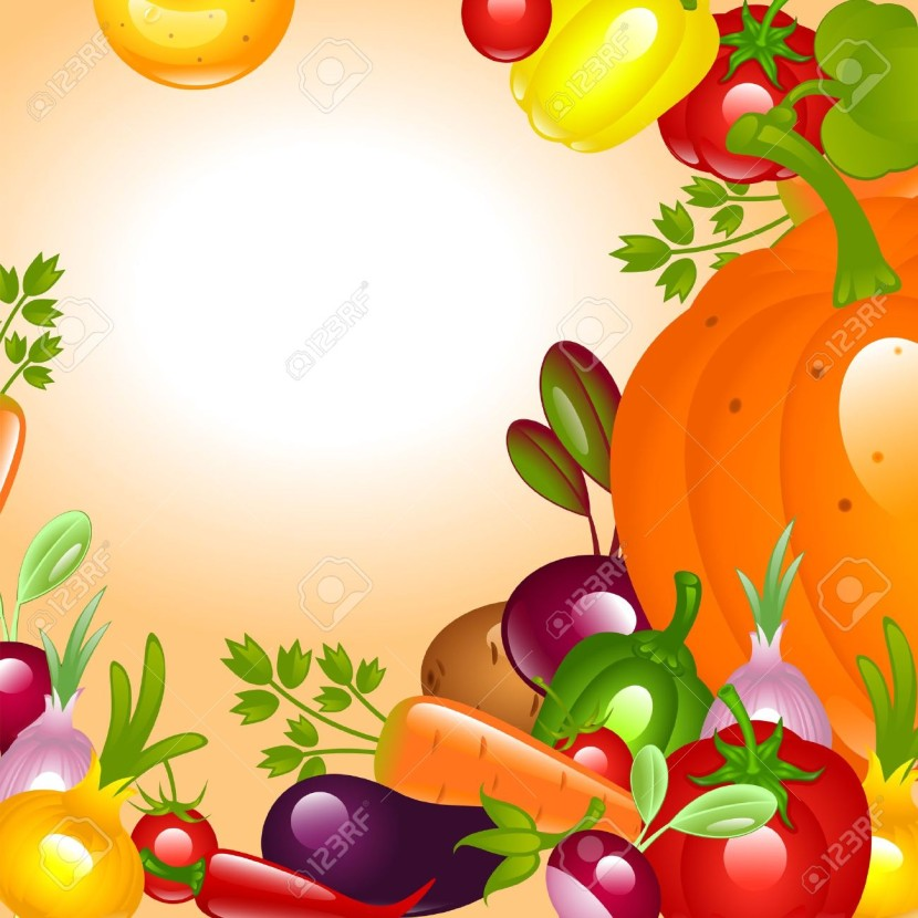 Banner To Thanksgiving Vegetables Background Royalty Free