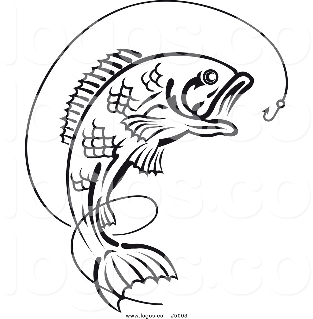Bass Fish Black And White Clipart Free Clip Art Images